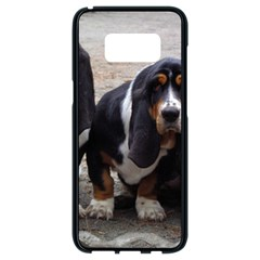 3 Basset Hound Puppies Samsung Galaxy S8 Black Seamless Case