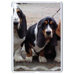 3 Basset Hound Puppies Apple iPad Pro 9.7   White Seamless Case
