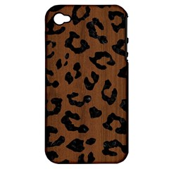 SKN5 BK-MRBL BR-WOOD Apple iPhone 4/4S Hardshell Case (PC+Silicone)
