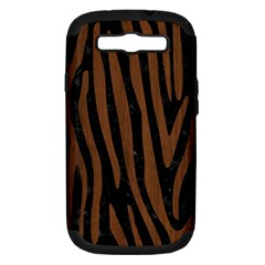 SKN4 BK-MRBL BR-WOOD (R) Samsung Galaxy S III Hardshell Case (PC+Silicone)