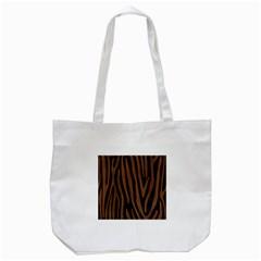 SKN4 BK-MRBL BR-WOOD (R) Tote Bag (White)