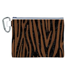 SKN4 BK-MRBL BR-WOOD (R) Canvas Cosmetic Bag (L)