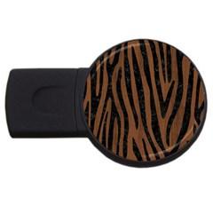 Skn4 Bk Mrbl Br Wood Usb Flash Drive Round (4 Gb)