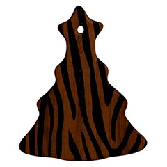 SKN4 BK-MRBL BR-WOOD Christmas Tree Ornament (Two Sides)