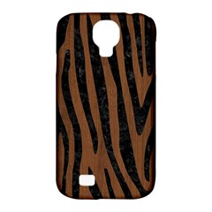 Skn4 Bk Mrbl Br Wood Samsung Galaxy S4 Classic Hardshell Case (pc+silicone)
