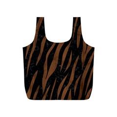 SKN3 BK-MRBL BR-WOOD Full Print Recycle Bags (S)