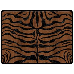SKN2 BK-MRBL BR-WOOD (R) Fleece Blanket (Large)