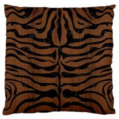Skn2 Bk Mrbl Br Wood (r) Standard Flano Cushion Case (one Side)