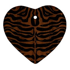 SKN2 BK-MRBL BR-WOOD Ornament (Heart)