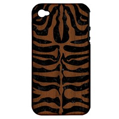 SKN2 BK-MRBL BR-WOOD Apple iPhone 4/4S Hardshell Case (PC+Silicone)