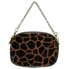 Skn1 Bk Mrbl Br Wood (r) Chain Purses (two Sides)