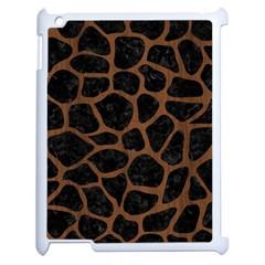 SKN1 BK-MRBL BR-WOOD (R) Apple iPad 2 Case (White)