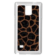 SKN1 BK-MRBL BR-WOOD (R) Samsung Galaxy Note 4 Case (White)