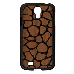 SKN1 BK-MRBL BR-WOOD Samsung Galaxy S4 I9500/ I9505 Case (Black)