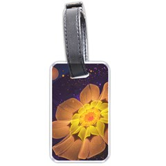 Beautiful Violet & Peach Primrose Fractal Flowers Luggage Tags (Two Sides)