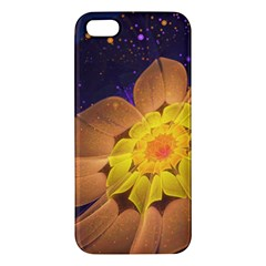 Beautiful Violet & Peach Primrose Fractal Flowers Apple iPhone 5 Premium Hardshell Case