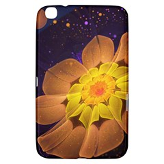 Beautiful Violet & Peach Primrose Fractal Flowers Samsung Galaxy Tab 3 (8 ) T3100 Hardshell Case