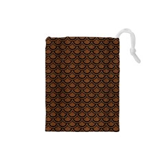 SCA2 BK-MRBL BR-WOOD (R) Drawstring Pouches (Small)