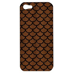 Scales1 Black Marble & Brown Wood (r) Apple Iphone 5 Hardshell Case