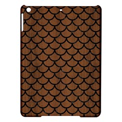 Scales1 Black Marble & Brown Wood (r) Apple Ipad Air Hardshell Case