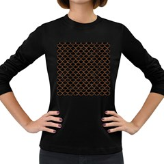 SCA1 BK-MRBL BR-WOOD Women s Long Sleeve Dark T-Shirts