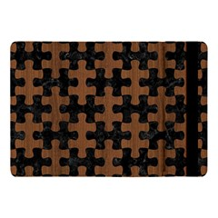 Puzzle1 Black Marble & Brown Wood Apple Ipad Pro 10 5   Flip Case