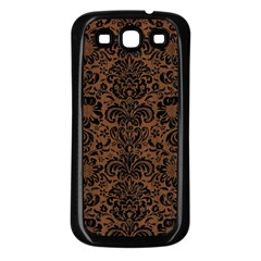 Dms2 Bk Mrbl Br Wood (r) Samsung Galaxy S3 Back Case (black)