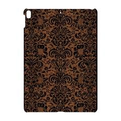 Damask2 Black Marble & Brown Wood (r) Apple Ipad Pro 10 5   Hardshell Case