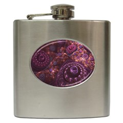 Buried Pirate Treasure of Fractal Pearls and Coins Hip Flask (6 oz)
