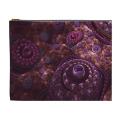 Buried Pirate Treasure of Fractal Pearls and Coins Cosmetic Bag (XL)