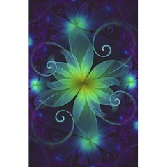 Blue and Green Fractal Flower of a Stargazer Lily 5.5  x 8.5  Notebooks