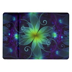 Blue And Green Fractal Flower Of A Stargazer Lily Samsung Galaxy Tab 10 1  P7500 Flip Case