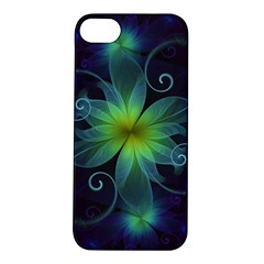 Blue and Green Fractal Flower of a Stargazer Lily Apple iPhone 5S/ SE Hardshell Case