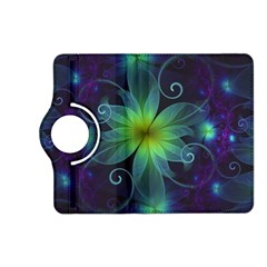 Blue and Green Fractal Flower of a Stargazer Lily Kindle Fire HD (2013) Flip 360 Case