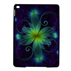 Blue and Green Fractal Flower of a Stargazer Lily iPad Air 2 Hardshell Cases