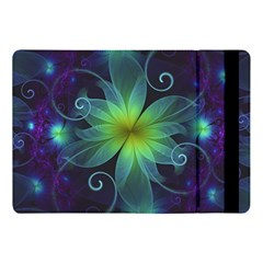 Blue And Green Fractal Flower Of A Stargazer Lily Apple Ipad Pro 10 5   Flip Case