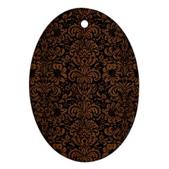 DMS2 BK-MRBL BR-WOOD Oval Ornament (Two Sides)