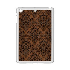 Damask1 Black Marble & Brown Wood (r) Apple Ipad Mini 2 Case (white)