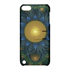 Beautiful Orange & Blue Fractal Sunflower of Egypt Apple iPod Touch 5 Hardshell Case with Stand