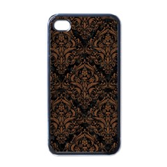 DMS1 BK-MRBL BR-WOOD Apple iPhone 4 Case (Black)