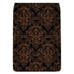 Damask1 Black Marble & Brown Wood Removable Flap Cover (s)