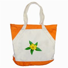 Yellow Flower With Leaves Photo Accent Tote Bag