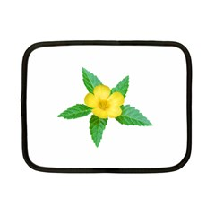 Yellow Flower With Leaves Photo Netbook Case (small)