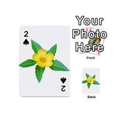 Yellow Flower With Leaves Photo Playing Cards 54 (Mini)
