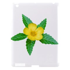 Yellow Flower With Leaves Photo Apple iPad 3/4 Hardshell Case (Compatible with Smart Cover)
