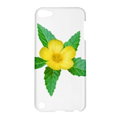 Yellow Flower With Leaves Photo Apple Ipod Touch 5 Hardshell Case