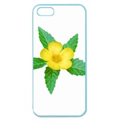 Yellow Flower With Leaves Photo Apple Seamless iPhone 5 Case (Color)