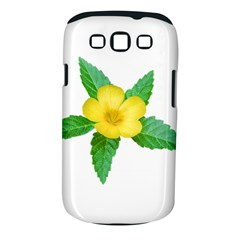 Yellow Flower With Leaves Photo Samsung Galaxy S III Classic Hardshell Case (PC+Silicone)