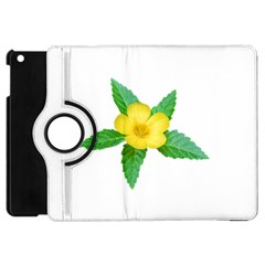 Yellow Flower With Leaves Photo Apple iPad Mini Flip 360 Case