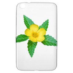 Yellow Flower With Leaves Photo Samsung Galaxy Tab 3 (8 ) T3100 Hardshell Case
